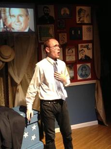 "Brooks Reeves plays George H.W. Bush in Bad Habit Productions' ""44 Plays for 44 Presidents.''"